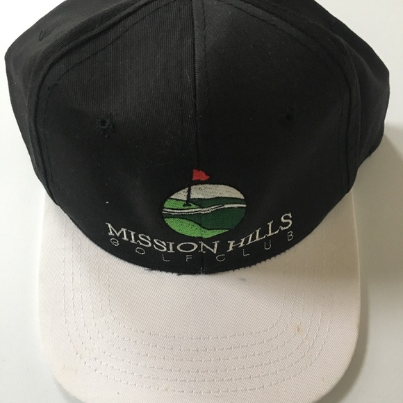 86ab674e599fa MISSION HILLS COUNTRY CLUB GOLF HAT tour pro item